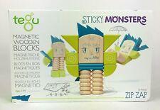Tegu Stick Monsters Magnetic Wooden Blocks Zip Zap Set