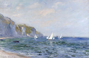 """CLAUDE MONET """"Cliffs And Sailboats At Pourville"""" Print various SIZES, BRAND NEW"""