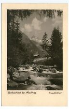 Ältere SW-Ansichtskarte mit Blick ins Seebachtal bei Mallnitz (993)