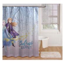 Disney Frozen 2 Shower Curtain - Believe in the Journey - Elsa & Anna - 72x72
