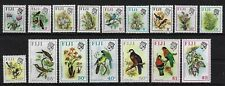 More details for fiji 1971 qeii birds and flowers definitives stamps set sg 435 - 520 mnh