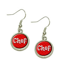 Chef Cook and Food Lover Dangling Drop Charm Earrings