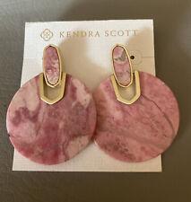New Kendra Scott Didi Earrings In Pink Rhodonite $110.00