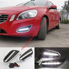 2X White Light LED Daytime Running Lights DRL Lamp for VOLVO S60 V60 2009-2013