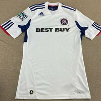 Adidas Chicago Fire Soccer Jersey S Futbol White Kit ClimaCool Uniform MLS