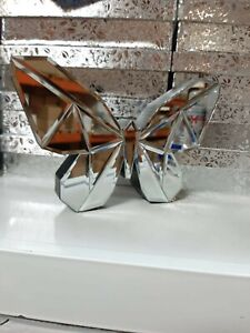 New Home Decoration Wall Hanging Table Sitter Glass Mirror Butterfly Ornament