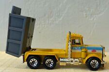 1981 Matchbox Peterbilt Pace Construction Dump Truck Yellow Excellent Condition!