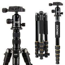 ZOMEI Q666 Portable Pro Tripod Monopod Ball Head Travel for Canon DSLR Camera