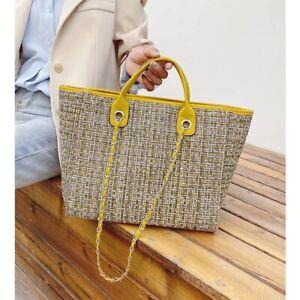 Woman Tote Bag Handbags Wool Large Capacity Casual Shopping Accessories Shoulder