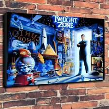 "Twilight Zone Pinball Back Glass Printed Canvas A1.30""x20""~Deep 30mm Frame"
