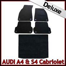 AUDI A4 Cabrio B6 2002-2006 a medida Alfombrillas De Coche Alfombra 1300g Lux + Bootmat Negro