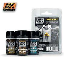 AK Air Series: Aircraft Engine Effects Enamel Weathering 3 Colors 35ml AKI 2000