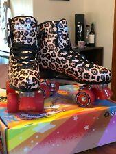 Impala Quad Skates / Rollerskates, Size 10 - Leopard - Barely worn w Box - Vegan