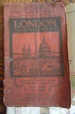 England Vintage Original Antique Europe Folding Maps