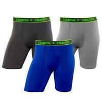 Champion Men's Active Performance Long Leg Boxer Briefs (Assorted Colors)3-Pack