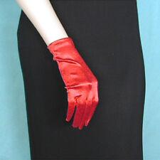 Wrist Length Shortie Satin Smooth Stretch Gloves Prom Formal Wedding - G176