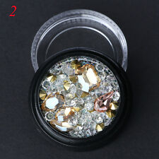 Mixed 3D Nail Crystals Rhinestones Colorful Micor Beads DIY Manicure Art Decor