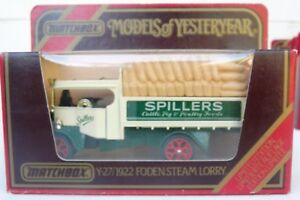 Matchbox Models of Yesteryear - Y-27 1922 Foden Steam Lorry - Spillers 1:72