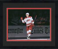 Frmd Martin Necas Hurricanes Signed 16x20 Photo & 1st NHL Goal Insc - LE 18