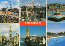 Postcard Lincolnshire multiview unposted