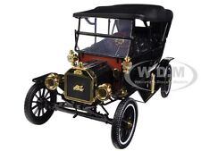1915 FORD MODEL T SOFT TOP BLACK 1/18 DIECAST MODEL CAR MOTORCITY CLASSICS 88131