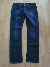 H&M Damen Jeans Gr. 31 blau 5 Taschen dunkelblau 100% Baumwolle