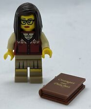 Genuine Lego Series 10 Librarian Minifigure with Book
