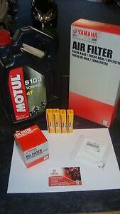 New Yamaha YZF R1 2009 2014 Genuine Service Kit Oil Air Filter NGK YZFR1 YZF-R1