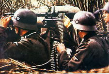MG34 WWII COLOR photo, MG 34 MG42 German WW2 World War Two Wehrmacht Germany