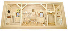 Large German NATURAL old wooden 3-D picture Diorama - ROOFER WORKSHOP ZIMMERMANN