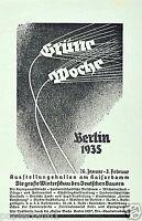 Ausstellung Grüne Woche Berlin 1935 Reklame Messe Leisungsschau Agrar Bauer
