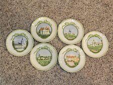 "Longchamp France 6 1/4"" Plates Set of 6 - Wine Regions of France"