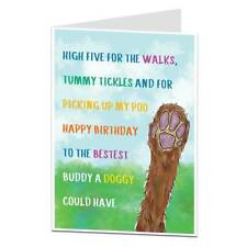 Funny Happy Birthday Card From The Dog Pet Theme For The Owner Lover