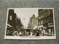 Real photo postcard - super social scene - Corporation Street Birmingham