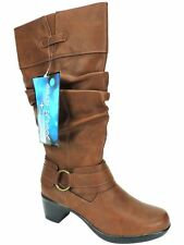 Easy Street Women's Jayda Slouchy Boots Tan Brown Wide Calf Size 7 M
