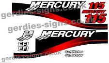 Le Mercure 115 moteur hors-bord moteur Kit De Autocollant Stickers