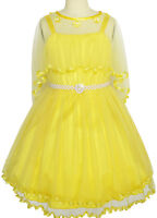 US STOCK Flower Girls Dress Pearl Belt Pageant Wedding Party Size 3-14  Formal