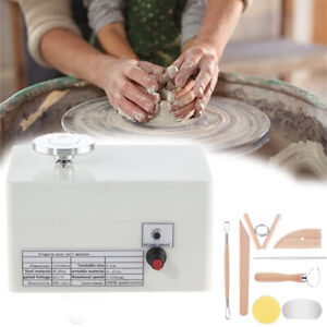 Mini Electric Pottery Wheel Small Pottery Forming Machine for DIY Ceramic Clay