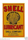 SHELL LUBRICANT Vinyl Sticker Decal Garage Service Station Retro Petrol Can Oil