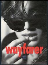 1991 Ray Ban Wayfarer sunglasses big photo vintage print ad