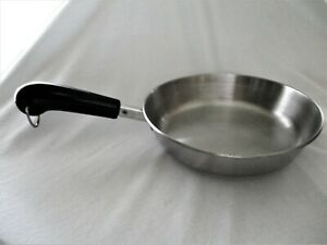 """Vintage Revere Ware 8"""" Stainless Steel Frying Pan w Tri-Ply Encapsulated Base"""