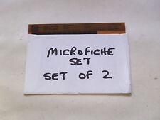 MICROFICHE JAGUAR XJS 3.6 RANGE RTC 9889FA  SET OF 2 Dated 1983 (NJ386)