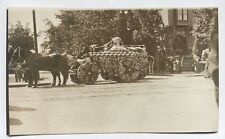 Postcard Vintage Early 1900s Fire Dept Steam Pumper Wagon engine flowers CYKO