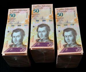 2018 Venezuela $50 Bolivares 3 Bricks New Consecutive 3000 Pcs New Unc SKU418