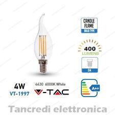 Lampadina led V-TAC 4W = 40W E14 bianco freddo 6000K VT-1997 a fiamma filamento