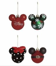 NEW Primark Disney Mickey Mouse Christmas Tree Bauble Decor x4 Large