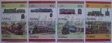 1985 TUVALU Set #4 Train Locomotive Railway Stamps (Leaders of the World)