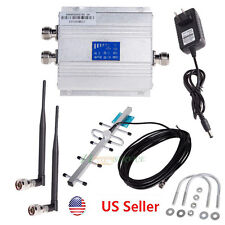 LCD GSM 900Mhz Cellphone Signal Booster Repeater Amplifier + Yagi Antena Kit