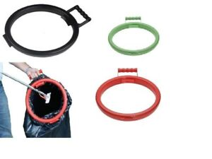 BagM8 Hoop Ring Sack Bin Rubbish Bag Holder Plastic with Handle Various Colours