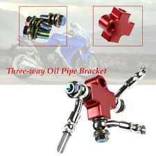 1SET Hydraulic Brake Hose Line Oil Pipe Adapter For Motorcycle M10x1.25 Screws